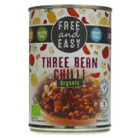 Picture of TIN Free & Easy Organic Three Bean Chilli ready meal 400g