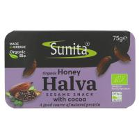 Picture of Sunita Organic Dark Chocolate Halva with Honey 75g