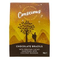 Picture of Conscious Chocolate Chocolate Coated Brazils - 50g